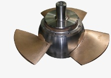 rotor with bronze blades